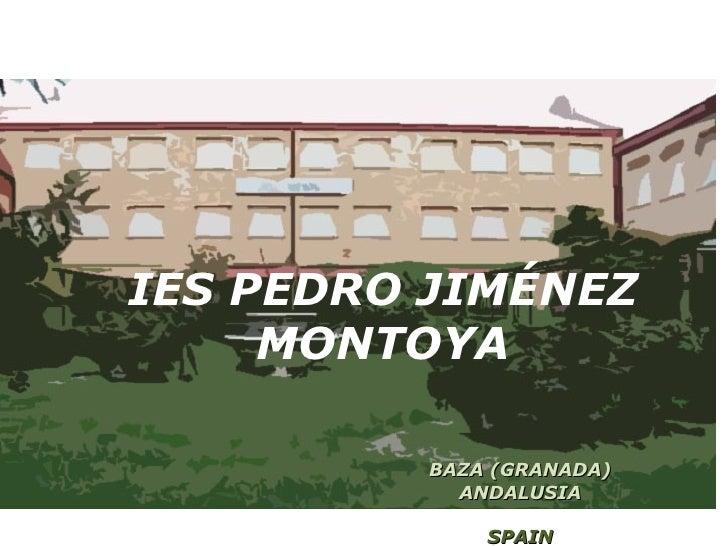 IES PEDRO JIMÉNEZ MONTOYA BAZA (GRANADA) ANDALUSIA SPAIN