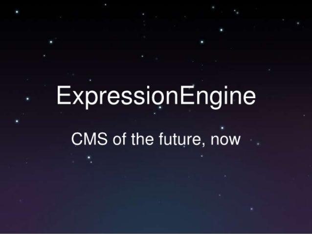 ExpressiQnEngine  CMS of the future,  nbw .