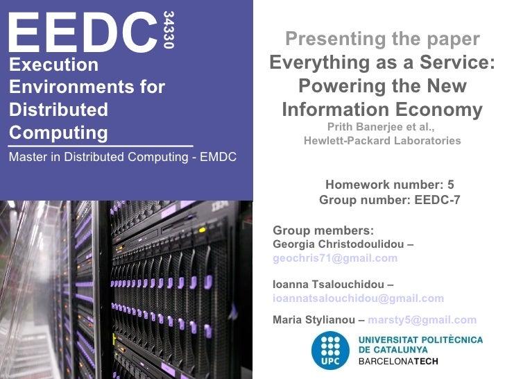 EEDC                         34330                                           Presenting the paperExecution                ...