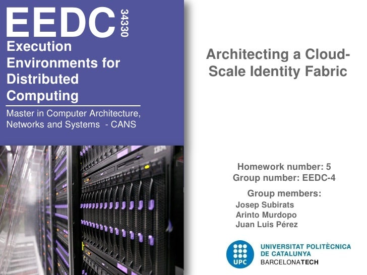 EEDC                          34330Execution                                   Architecting a Cloud-Environments for      ...