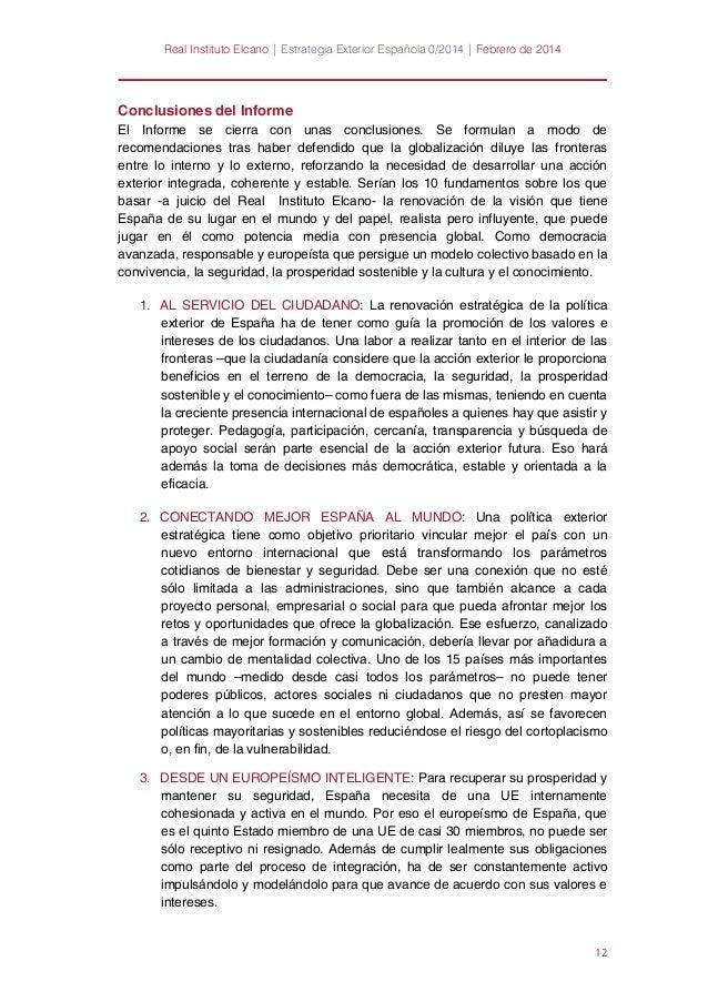 resumen ejecutivo y conclusiones del informe elcano hacia una renova