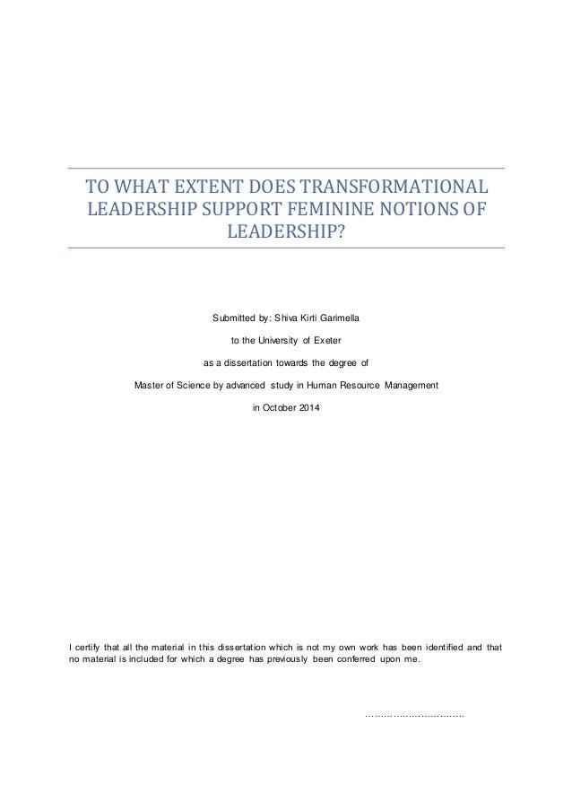 Transformational School Leadership
