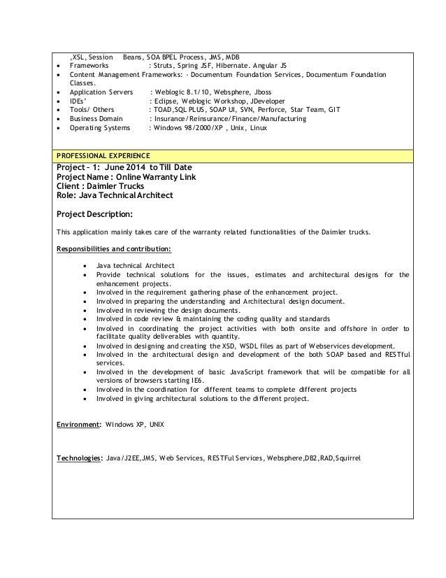 documentum developer resume