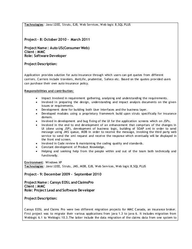 Prasad Rompalli Latest Resume SlideShare Java Developer Entry Level Fancy  Entry Level Java Developer Upwork Cover