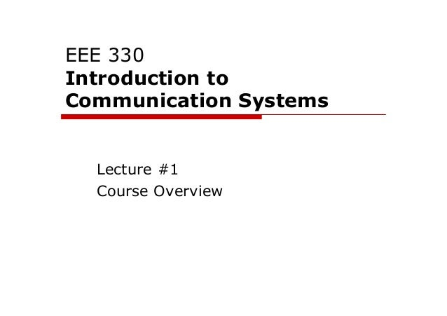 Introduction to Communication Systems 1