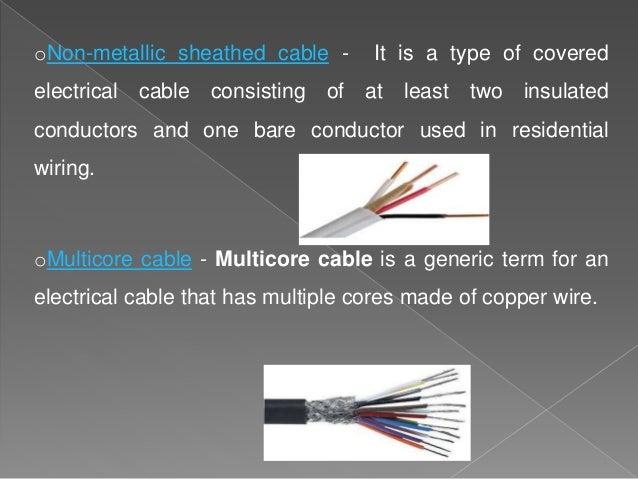 electrical wiring types of wires and cables and the circuit control o rh slideshare net Residential Telephone Wiring Diagram cat5e cable residential wiring
