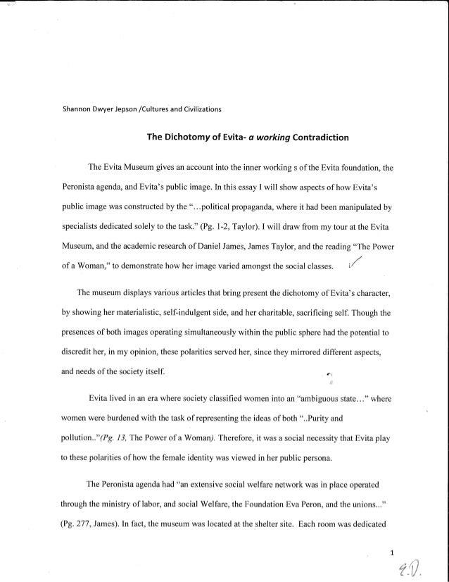 S.D. EVITA-WORKING CONTRADICTION