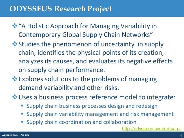 an approach to manage the supply The strategic supply chain processes that management has to decide will cover the breadth of the supply chain, including product development and more.