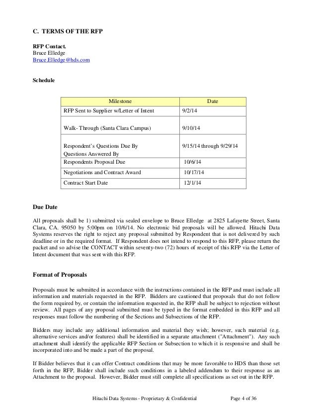 Hitachi RFP for Janitorial FINAL
