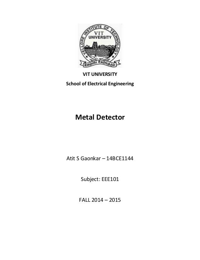 Metal Detector : A Working Model