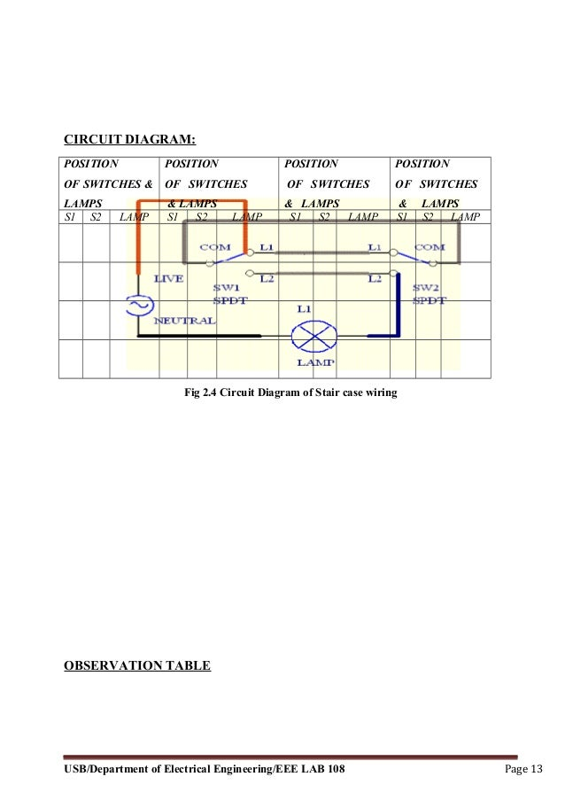 electrical and electronics lab manual Staircase to Change to Single Switch Wiring Air Conditioning Wiring