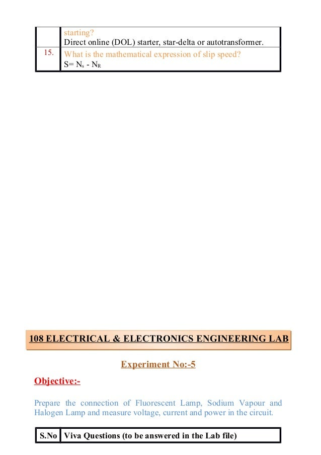 Enjoyable Electrical And Electronics Lab Viva Questions Wiring Digital Resources Instshebarightsorg