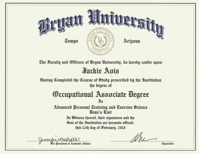 university associates degree diploma bryan university associates degree diploma