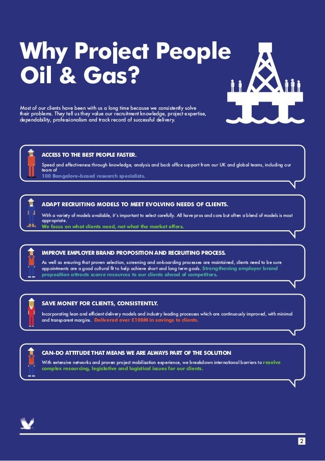 Why Project People Oil & Gas? ACCESS TO THE BEST PEOPLE FASTER. IMPROVE EMPLOYER BRAND PROPOSITION AND RECRUITING PROCESS....