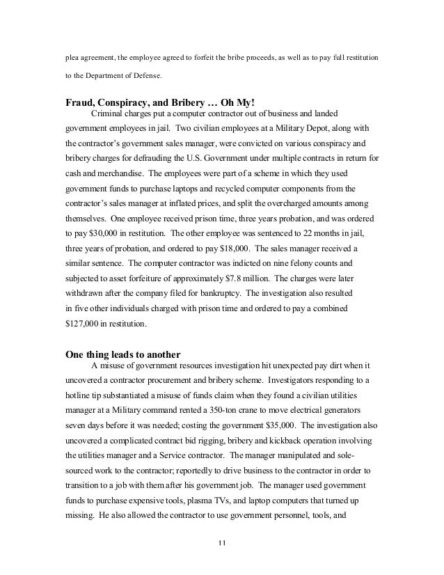 Encyclopedia Of Ethical Failure Updated July 2013