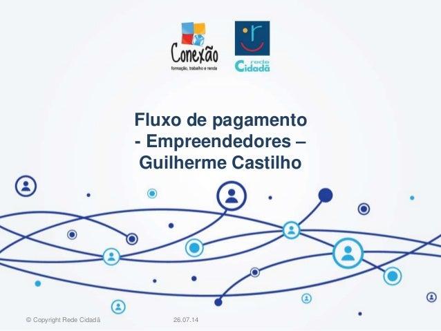 Fluxo de pagamento - Empreendedores – Guilherme Castilho 26.07.14© Copyright Rede Cidadã