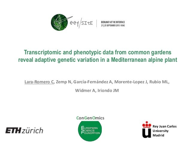 Transcriptomic and phenotypic data from common gardens reveal adaptive genetic variation in a Mediterranean alpine plant L...