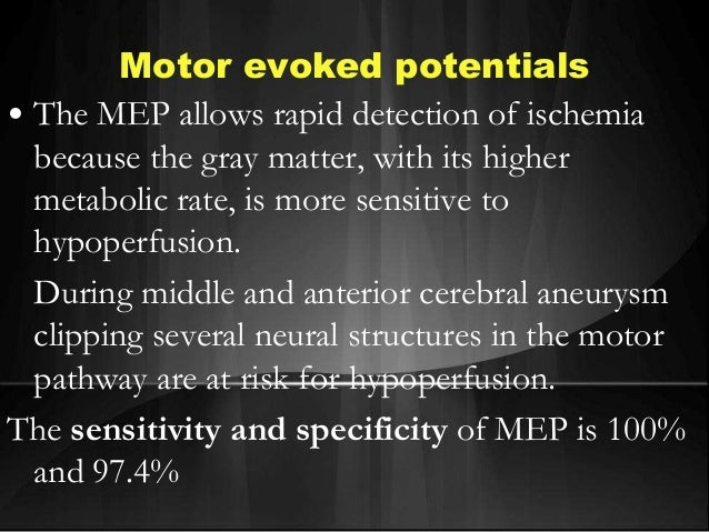 Eeg evoked potentials for Motor evoked potential monitoring