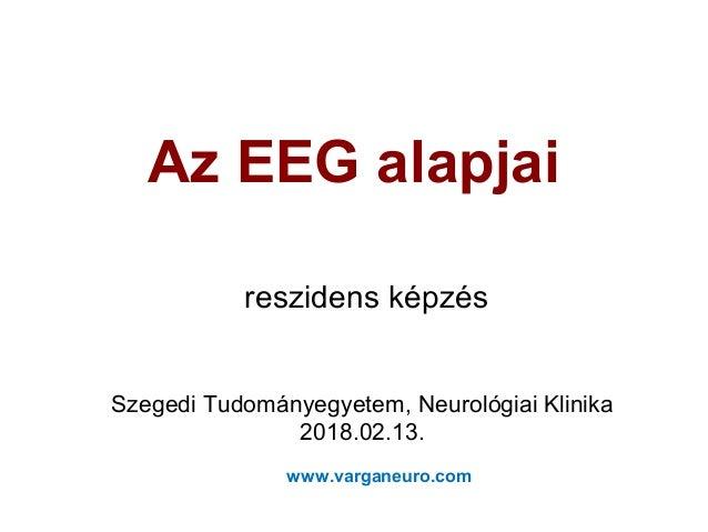 Az EEG alapjai reszidens képzés Szegedi Tudományegyetem, Neurológiai Klinika 2018.02.13. www.varganeuro.com