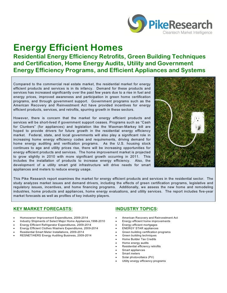 Energy Efficient Homes Residential Energy Efficiency Retrofits, Green Building Techniques and Certification, Ho...