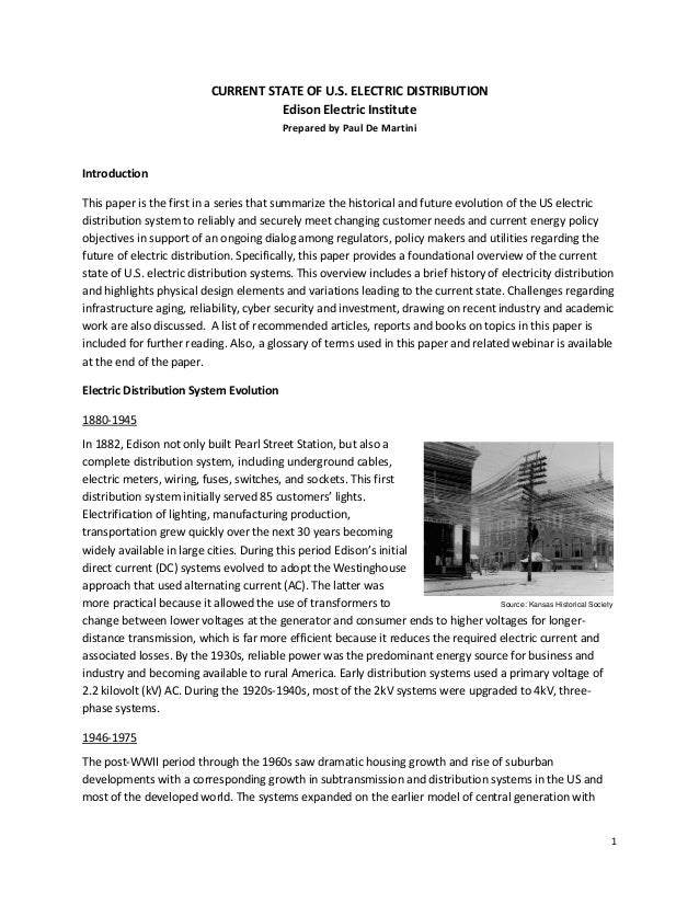 jones electrical distribution essay The current war: a battle story between two electrical titans, thomas edison and george westinghouse - kindle edition by adam.