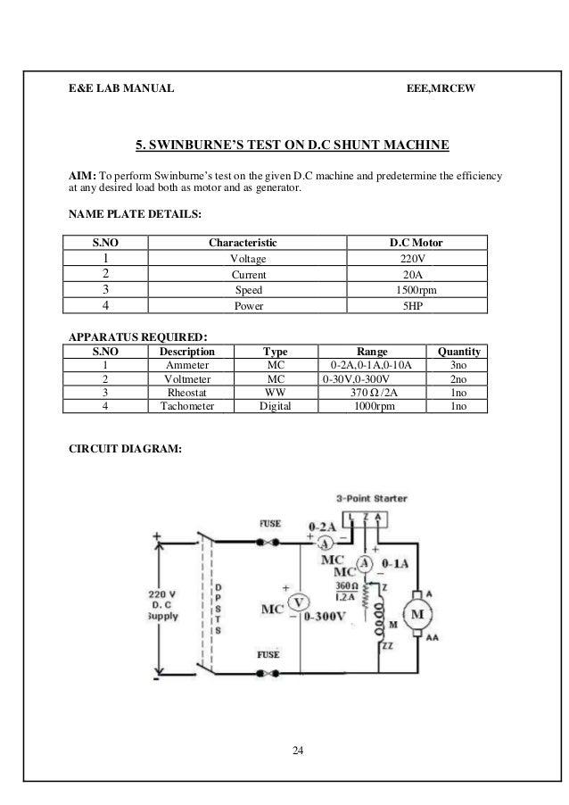 E Amp E Lab Manual