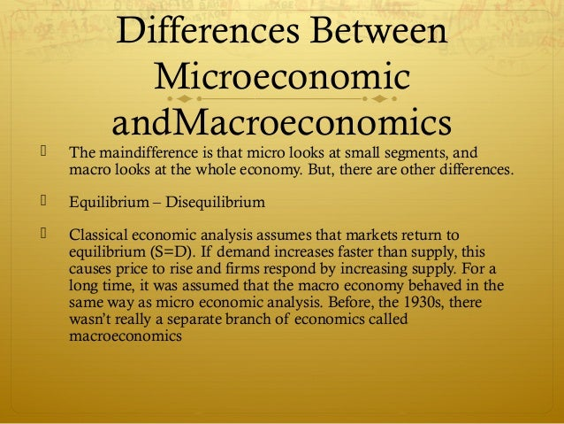 what is the distinction between microeconomics and macroeconomics