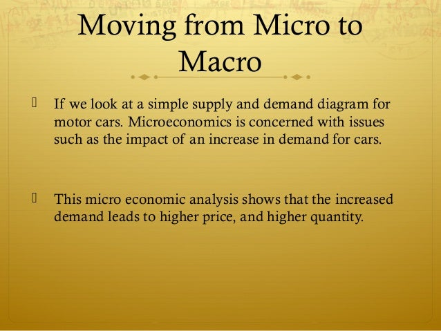 similarities of micro and macro economics