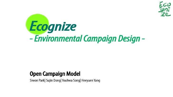 Background of 1. Background Ecognize         Ecognize