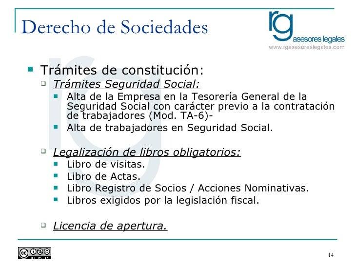 Een derecho de sociedades i for Oficina de tesoreria de la seguridad social