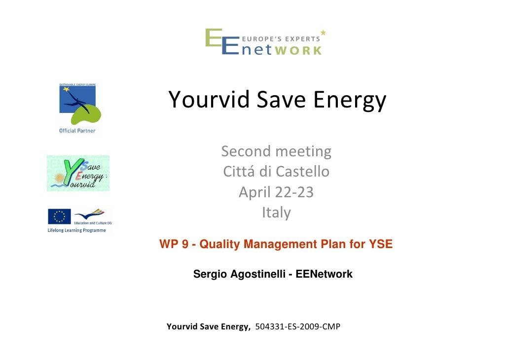 YSE 2°meeting - EENetwork WP quality