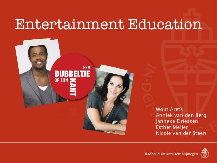 Entertainment Education                 Wout Arets                 Anniek van den Berg                 Janneke Driessen   ...