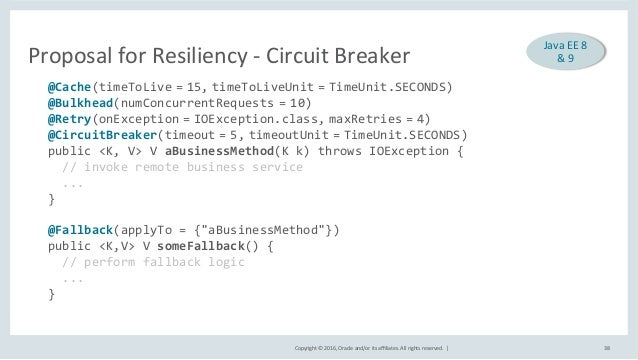 Copyright©2016,Oracleand/oritsaffiliates.Allrightsreserved.| ProposalforResiliency-CircuitBreaker 38 @Cac...