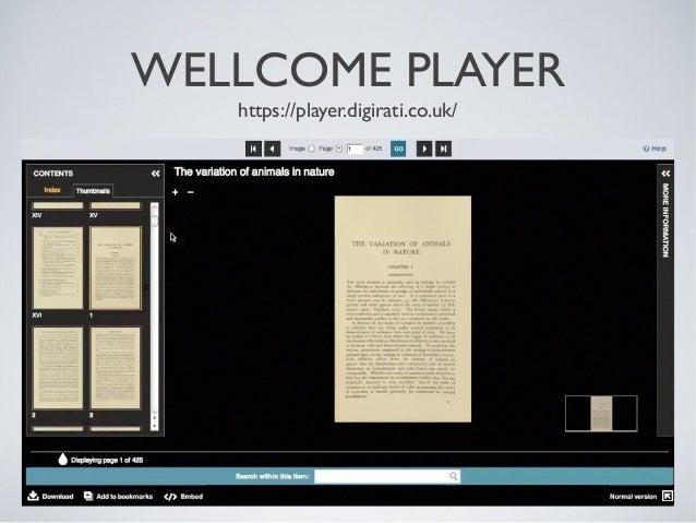 WELLCOME PLAYER https://player.digirati.co.uk/