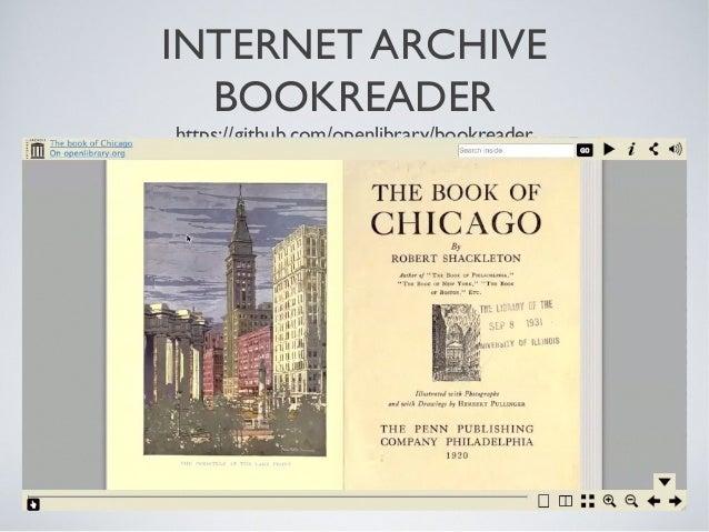 INTERNET ARCHIVE BOOKREADER https://github.com/openlibrary/bookreader