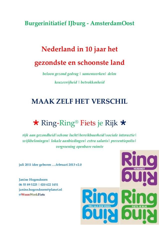 Burgerinitiatief IJburg - AmsterdamOostNederland in 10 jaar hetgezondste en schoonste landbeloon gezond gedrag | samenwerk...