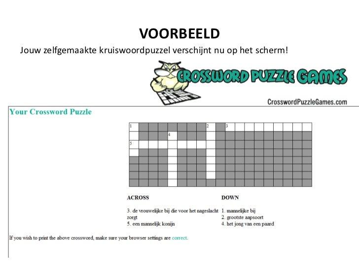 Een online kruiswoordraadsel maken - Voorbeeld van een buitenzwembad ...
