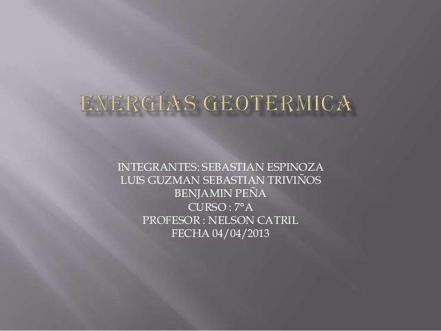 INTEGRANTES: SEBASTIAN ESPINOZA LUIS GUZMAN SEBASTIAN TRIVIÑOS          BENJAMIN PEÑA            CURSO : 7°A     PROFESOR ...