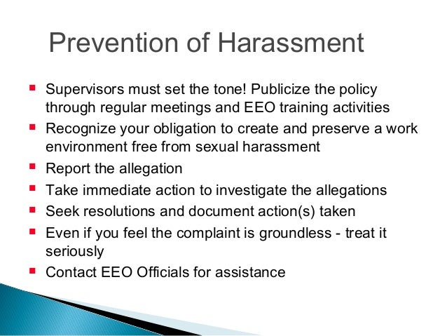 Sexual harassment activities