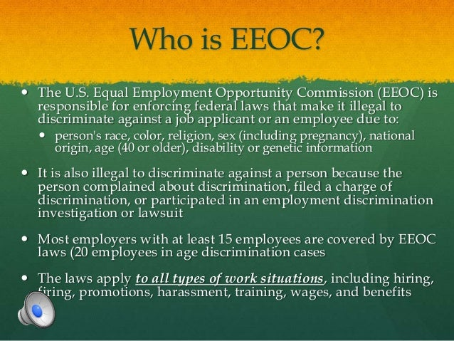 case brief eeoc v federal In the case of eeoc v wyoming (460 us 226 (1983)) the us supreme court reversed the similar case of national league of cities v the federal government was.