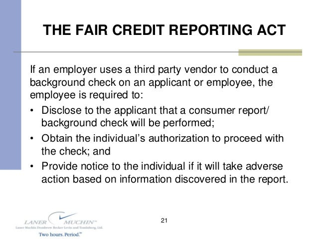 what is the purpose of the fair credit reporting act