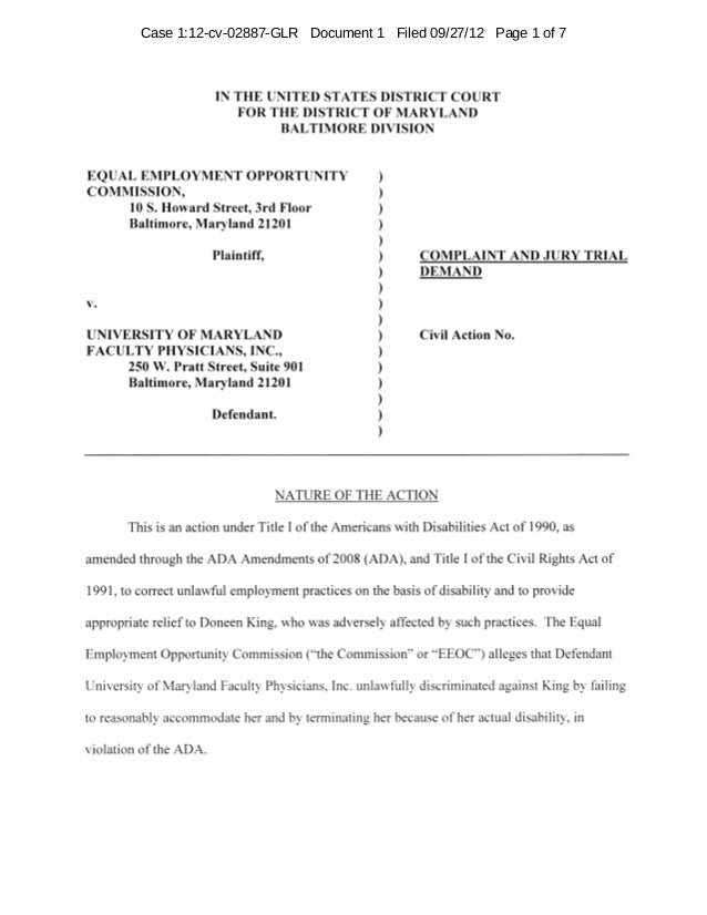 Case 1:12-cv-02887-GLR Document 1 Filed 09/27/12 Page 1 of 7