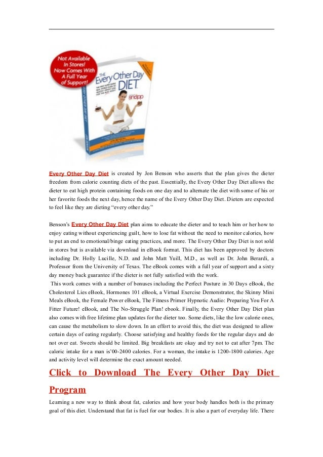 Every Other Day Diet Pdf