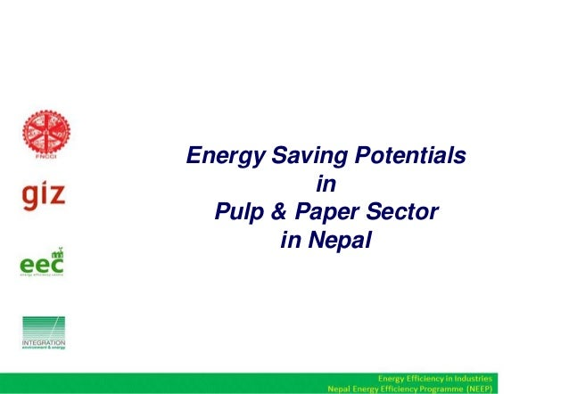 Energy Saving Potentials in Pulp & Paper Sector in Nepal