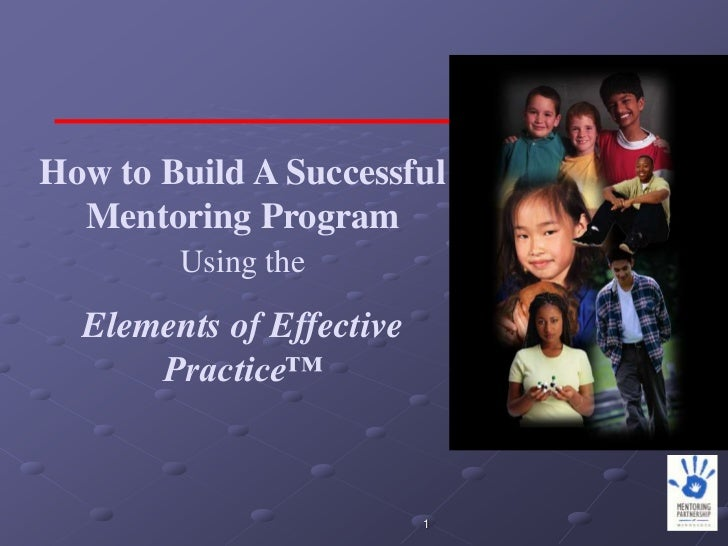 How to Build A Successful  Mentoring Program        Using the  Elements of Effective      Practice™                       ...