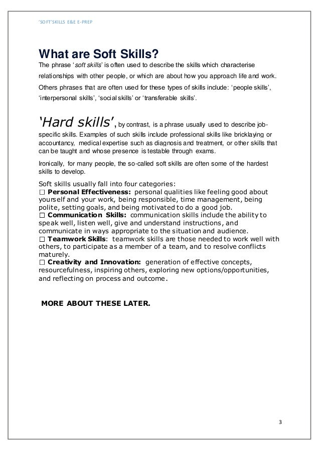 professional skills examples