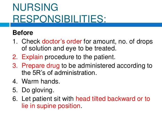 Ciprofloxacin eye drops nursing procedure