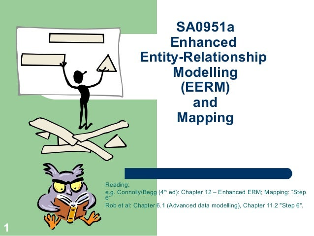SA0951a Enhanced Entity-Relationship Modelling (EERM) and Mapping  Reading: e.g. Connolly/Begg (4th ed): Chapter 12 – Enha...