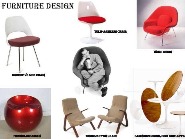 5 FURNITURE DESIGN TULIP ARMLESS CHAIR Eero SaarinenEero Saarinen Chair  Designs Womb Chair 1946 Eero SaarinenEero Saarinen Chair Designs Womb Chair  1946 ...