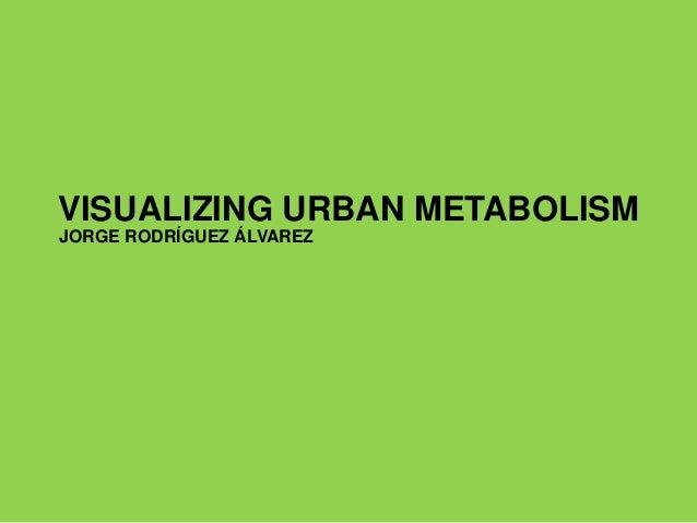 VISUALIZING URBAN METABOLISM JORGE RODRÍGUEZ ÁLVAREZ